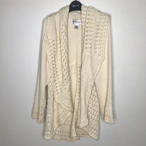 Plus Size Bloomingdales White Cardigan Sweater 1X